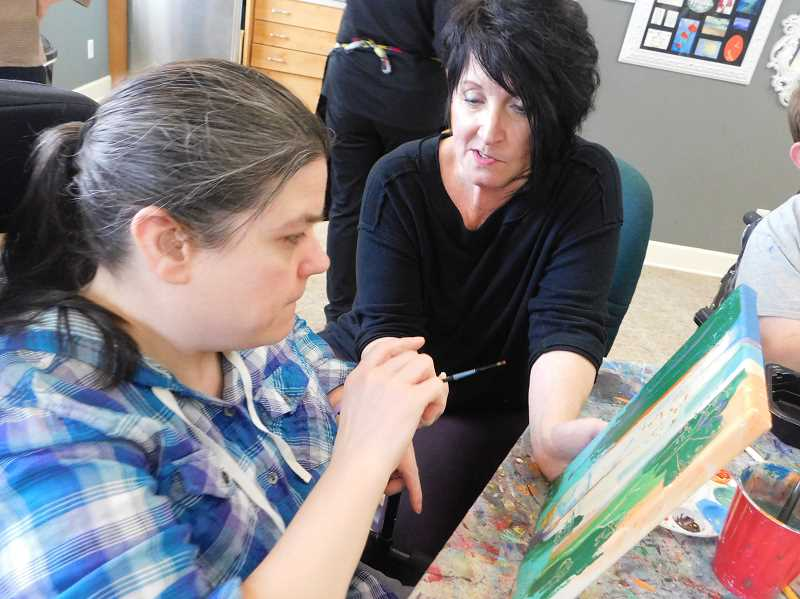 ESTACADA NEWS PHOTO: EMILY LINDSTRAND - At Infusion Gallery, artists can practice their craft.