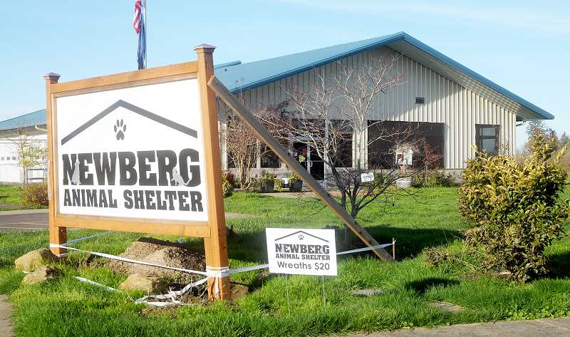GRAPHIC FILE PHOTO - The building that houses the Newberg animal shelter is in danger of being sold by the city to pay for upgrades to its communications systems through WCCCA.
