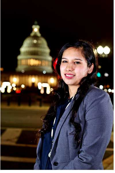 KOKI FUKASAKU - Karlen Yallup, of Warm Springs, is enjoying her second internship in Washington, D.C., over the past year. Last summer, she interned with Sen. John McCain, and now, with Sen. Ron Wyden.