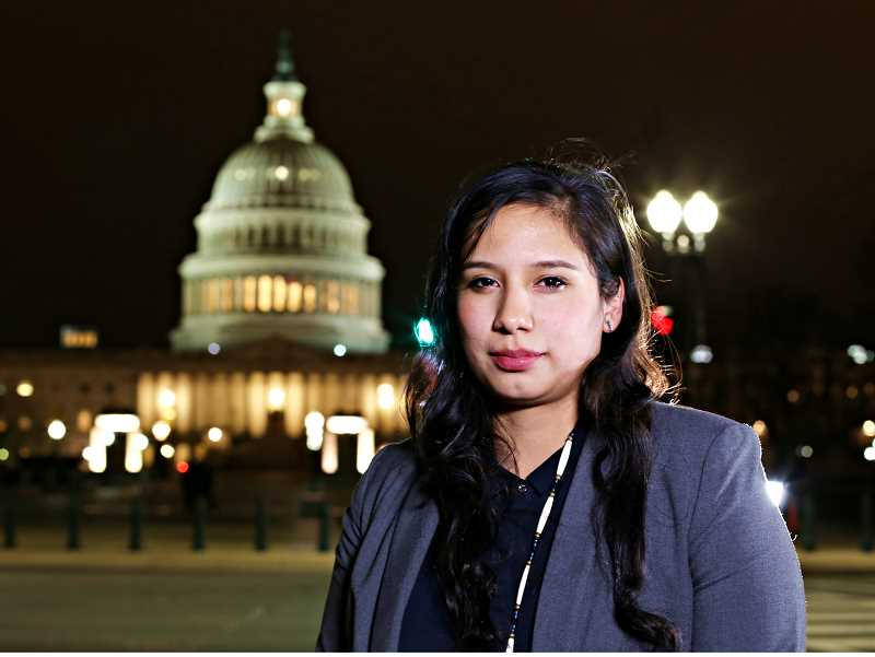 KOKI FUKASAKU - Karlen Yallup, 25, will spend the next seven months serving in U.S. Sen. Ron Wyden's office in Washington, D.C.