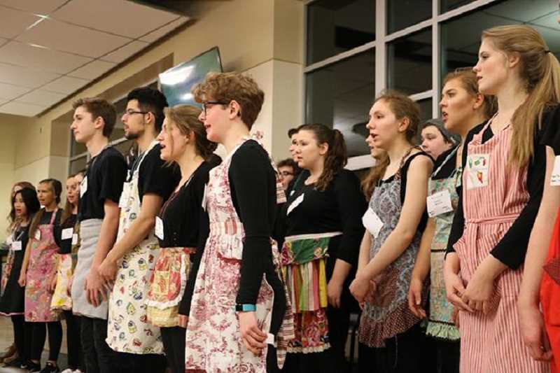 SUBMITTED PHOTO - The WLHS choir sings for diners at the spaghetti dinner last year.