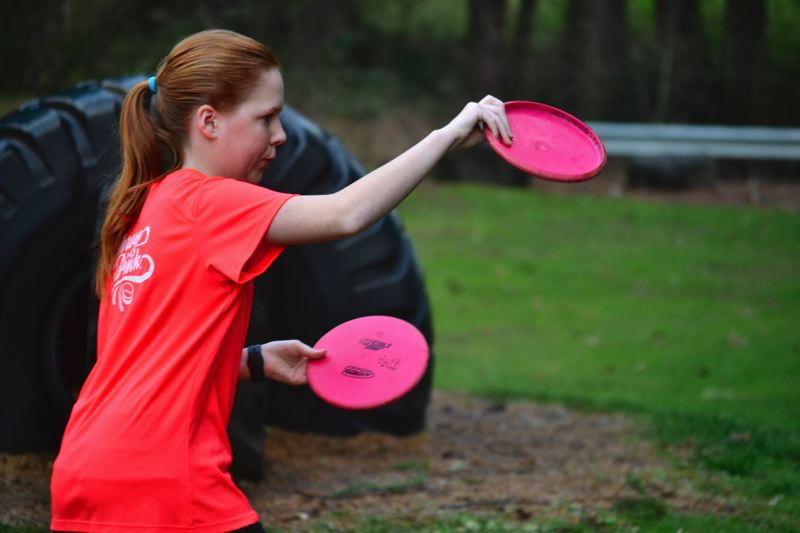 POST PHOTO: BRITTANY ALLEN - Lucy Burks ranked no. 1 in the world in her age division for disc golf last year and will compete in the world championship this year.