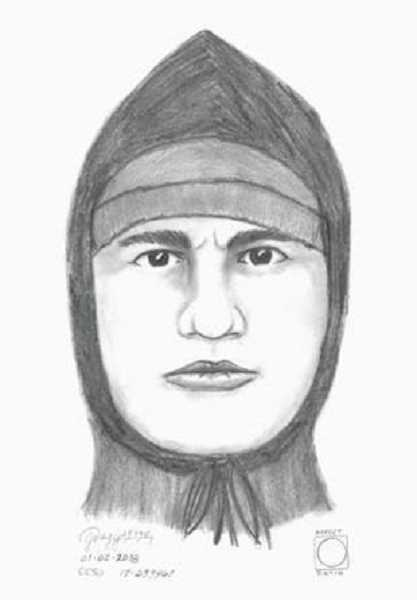 COURTESY PHOTO: WILSONVILLE POLICE DEPARTMENT - A forensic artist drew this sketch of the unidentified robber based on the accounts of witnesses.