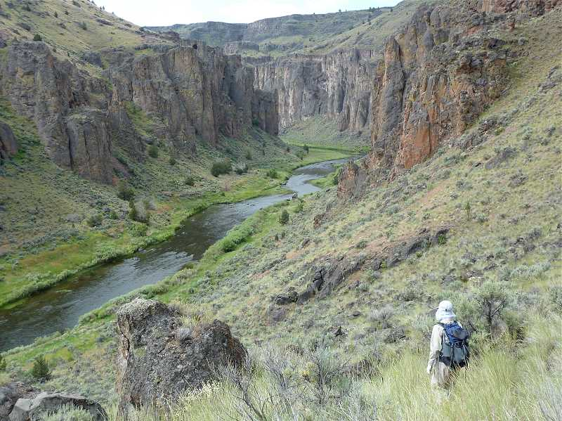 The Owyhee River Journals was written by Bonnie Olin mainly because she couldnt find a book on the Owyhee that she wanted. The book is filled with color photographs taken by her husband Mike Quigley of the canyon.