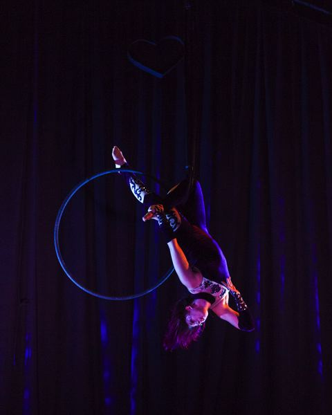 COURTESY PHOTO - As part of 'Oddville,'  Longon Mahina performs on the aerial hoop.