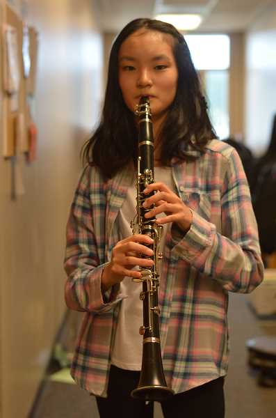 TIDINGS PHOTO: CLARA HOWELL - Eighth-grader Koharu Sakiyama wins the middle school division statewide for OMEA's composition contest.