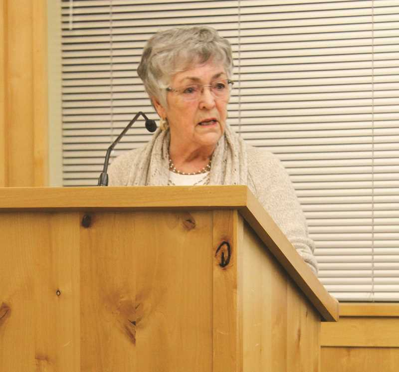 JASON CHANEY - Prineville Mayor Betty Roppe delivers her State of the City address during a Tuesday evening City Council meeting.