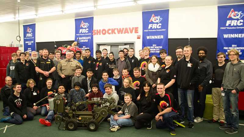 COURTESY PHOTO - High school students will use parts from a decommissioned tactical robot from Washington County to build new bots, according to the Washington County Sheriffs Office.