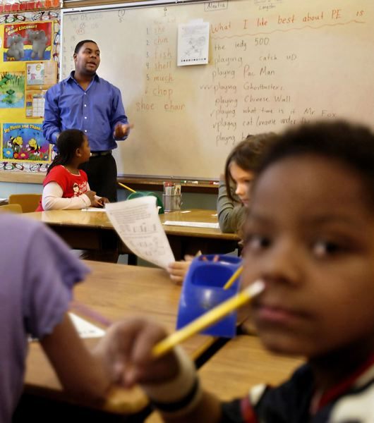 PAMPLIN MEDIA GROUP FILE PHOTO - Paul Coakley, shown here in 2005 as an elementary school teacher, is one of two Oregon superintendents of color today.