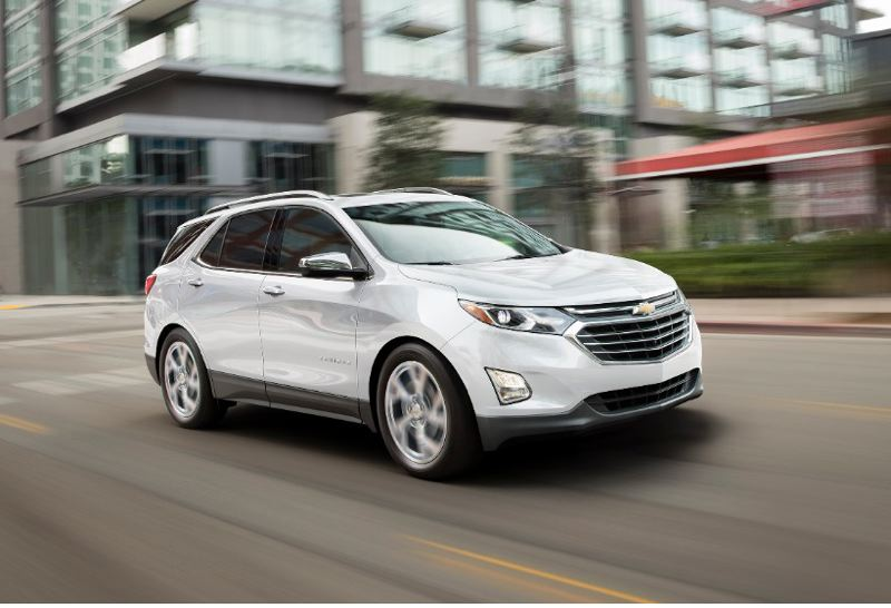 COURTESY GENERAL MOTORS - The completely-redesigned 2018 Chevy Equinox is lighter and sleeker than before, and can be ordered with a turbocharged 1.6-liter diesel engine for the great mileage.