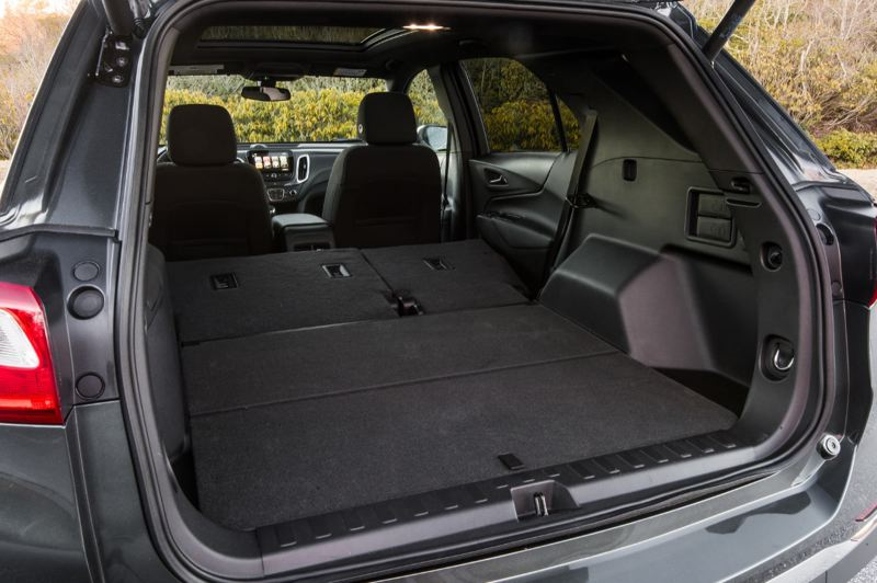 COURTESY GENERAL MOTORS - There's plenty of cargo space in the 2018 Chevy Equinox , and even more with the rear seats folded down.