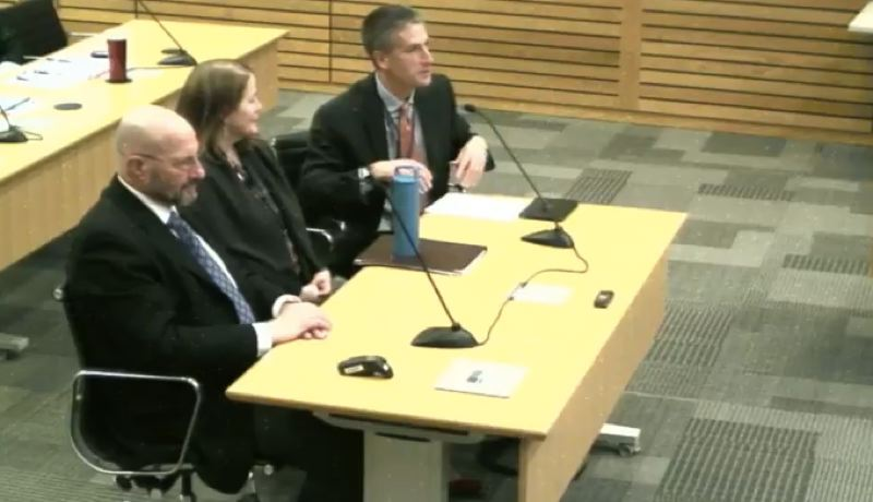 COURTESY: PORT OF PORTLAND/ YOUTUBE - Nolan Gimpel (RIGHT) project manager and principal consultant of the consultant team Advisian Worley Parsons, presented the finding from a business study of how Terminal 6 can survive.