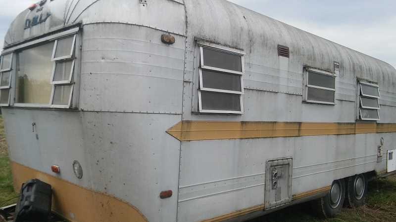 SUBMITTED PHOTO: PRAKOPIY CAM - Pictured is the trailer that Cam hauled away from his property on Oct. 29.