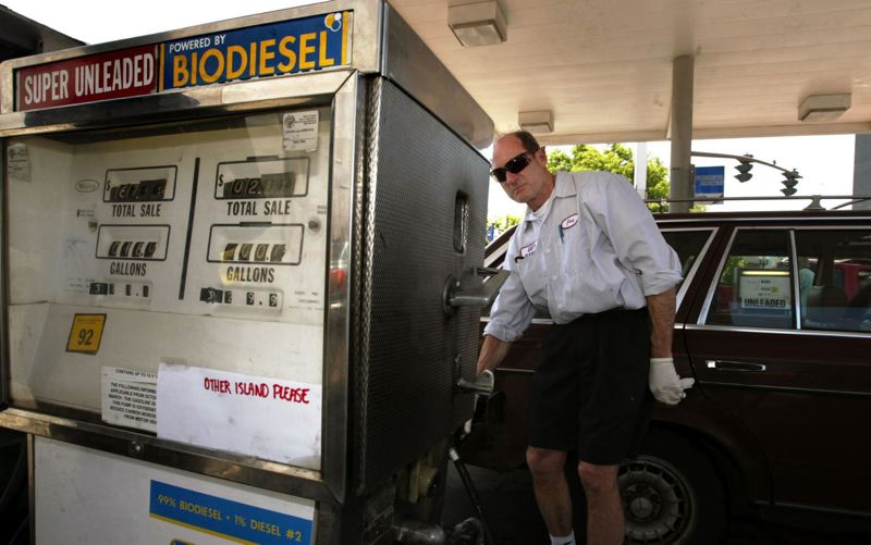 PAMPLIN MEDIA GROUP FILE PHOTO - Oregon's average price for a gallon of regular gasoline is the fifth highest in the nation. The Pacific Coast states lead the nation in high gasoline prices this month.