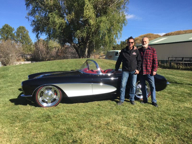 COURTESY PHOTO: JERRY GEISZLER - Dave Kindig wanted to restore his father-in-law Richard Coxs Corvette as a retirement gift. Thats a bitchin ride if Ive ever seen one, Cox said when the car was revealed.