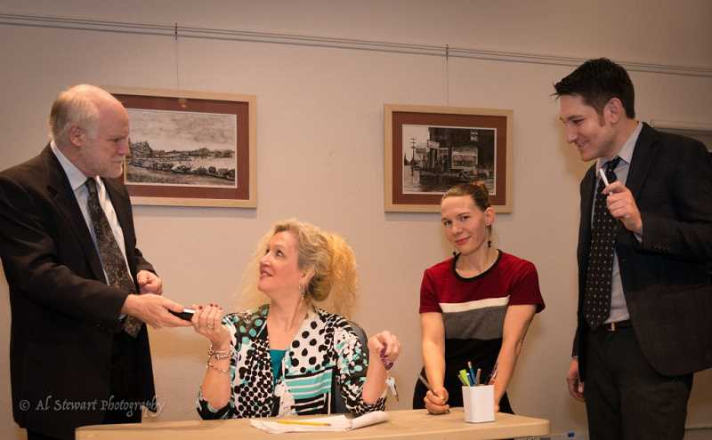 AL STEWART PHOTOGRAPHY - Gary Anderson, Patti Speight, Amelia Michaels and Michael Hoeft star in 'The Receptionist.'