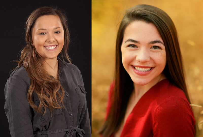 SUBMITTED PHOTO - Seniors Emily Fogg (left) and Abby Manley (right) are co-candidates for West Linn High School's team Be the Change.
