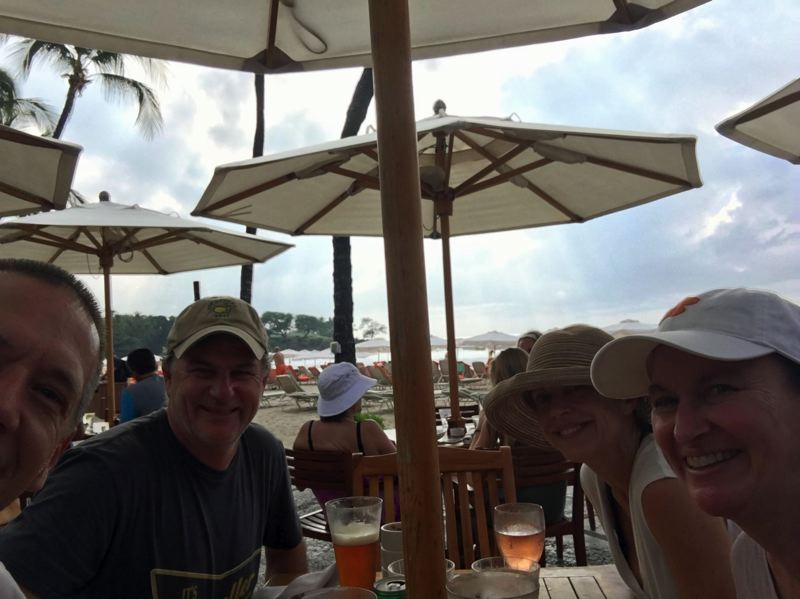 Dave and Kim Wisniewski (far left and right) were vacationing in Hawaii when last Saturday's false missile alert rocked the island.
