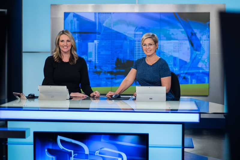 COURTESY PHOTO - Good Day Oregon personalities Shauna Parsons, left, and Kim Maus say they have a special chemistry on the Fox 12 morning show, which they co-anchor five days a week.
