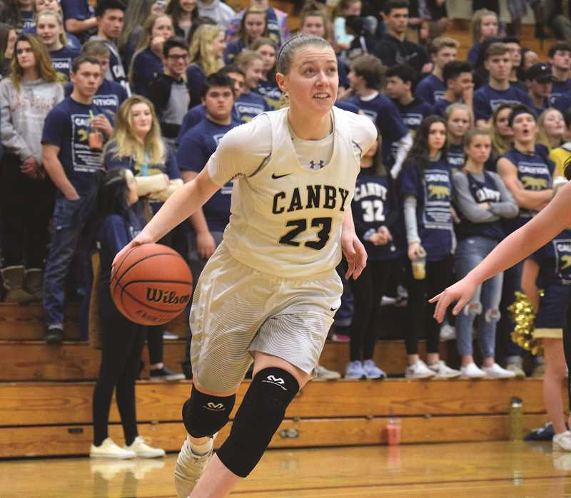 HERALD PHOTO: TANNER RUSS - Canby senior Cassidy Posey had 12 points in the game against Tigard. Canby fell to the visiting Tigers 53-44 on Friday, Jan. 19.