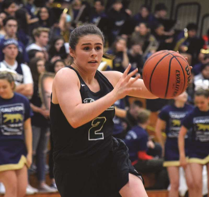 HERALD PHOTO: TANNER RUSS - Tigard sophomore Kennedy Brown had nine points against the Canby Cougars on Friday, Jan. 19.
