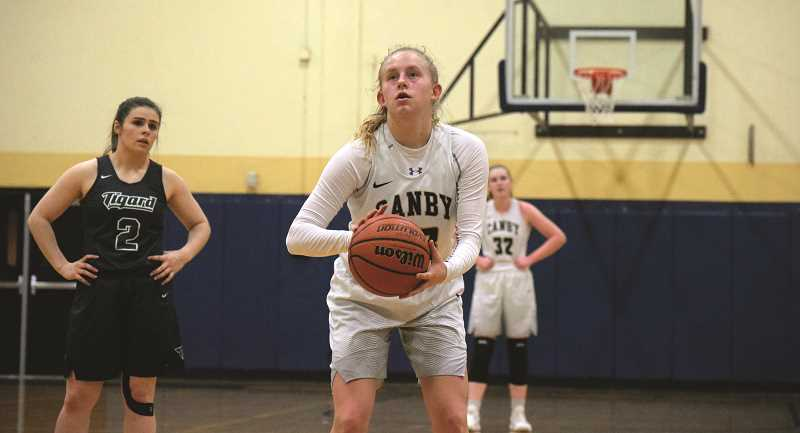 HERALD PHOTO: TANNER RUSS - Canby senior Hannah Myers led the team scoring with 16 points in their game against Tigard. The Cougars lost 53-44 on Friday, Jan. 19.
