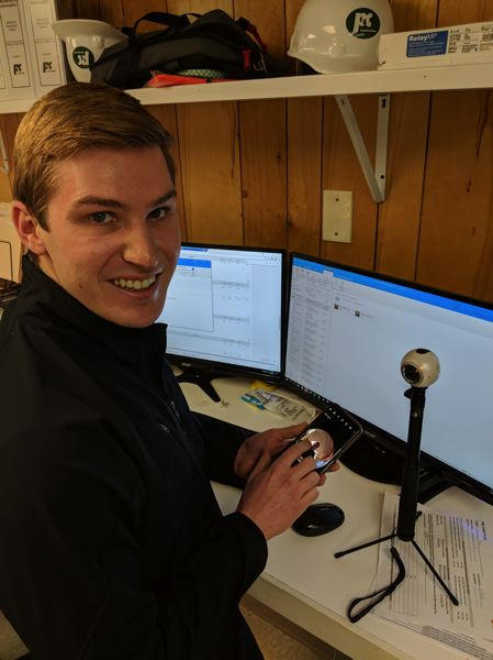 PAMPLIN MEDIA GROUP: JOSEPH GALLIVAN - P&C Constrcution engineer Zach Hunt uses a 360 degree camera for walk-throughs of projects so the design team can get a quick view without having to visit the site too much.