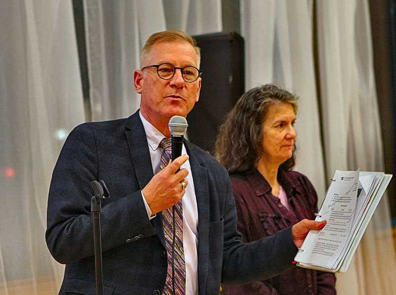 DAVID F. ASHTON - Portland Parks Bureau Director Mike Abbaté outlined, as the January meeting got started, how the budget discussion would take place - accompanied by City Commissioner Amanda Fritz.