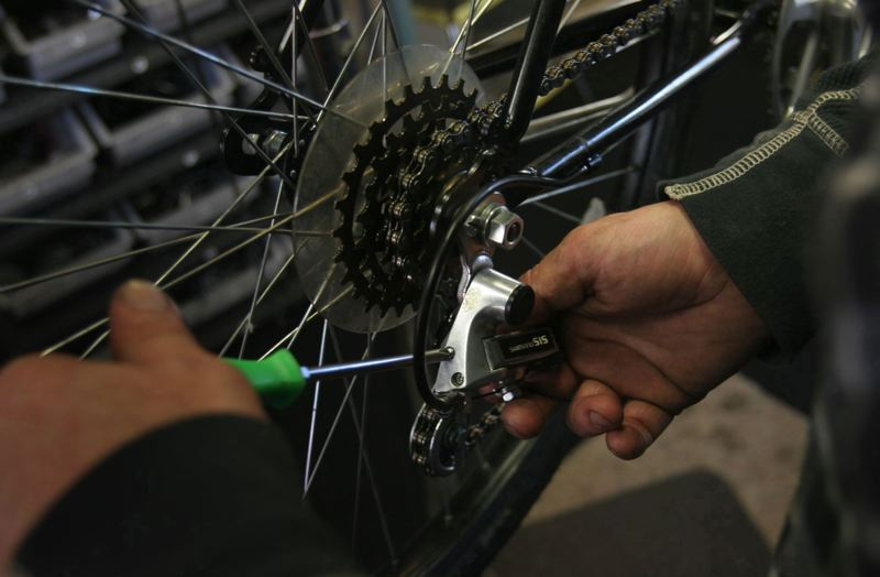 FILE - For bicyclists, there's hardly anything more frustrating than having something on your trusty two-wheeled steed break while you're out for a ride. Beginning later this year, when that happens in Forest Grove, there will be public amenities to help fix a busted bike.