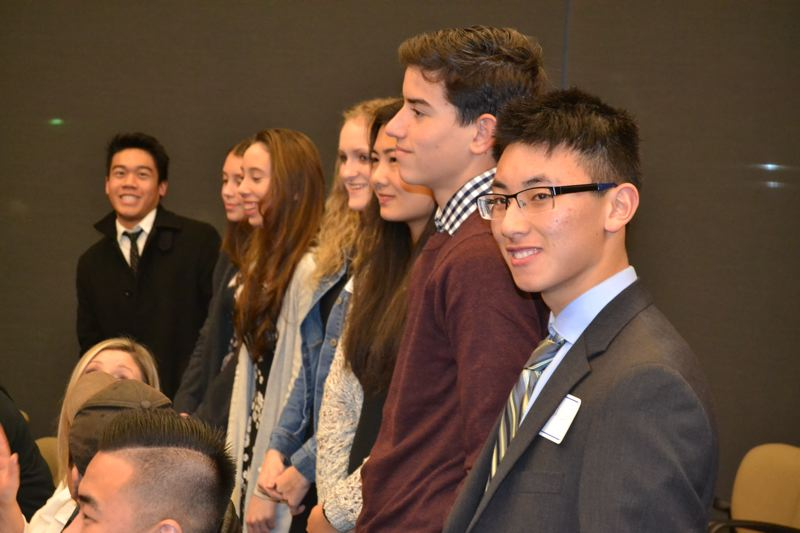 PHOTO BY: DOUG DURLAND - Members of the city's Youth Council.