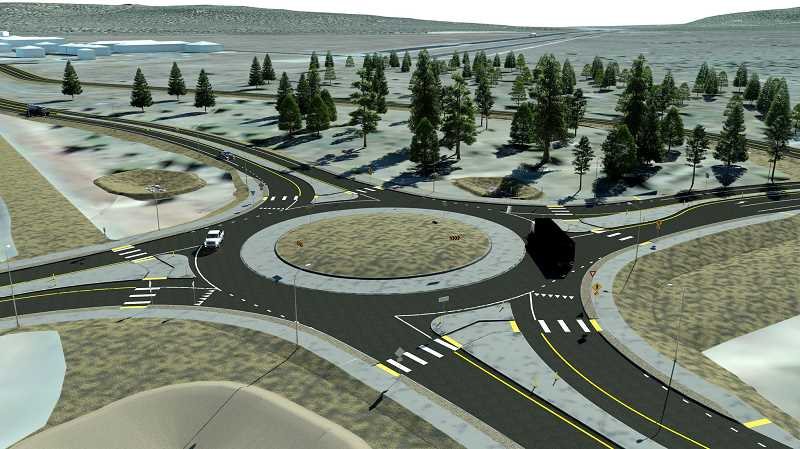 PHOTO COURTESY OF OREGON DEPARTMENT OF TRANSPORTATION - Work on a new roundabout at the Tom McCall Road intersection with State Highway 126 is scheduled to start at the end of this month and continue until December.