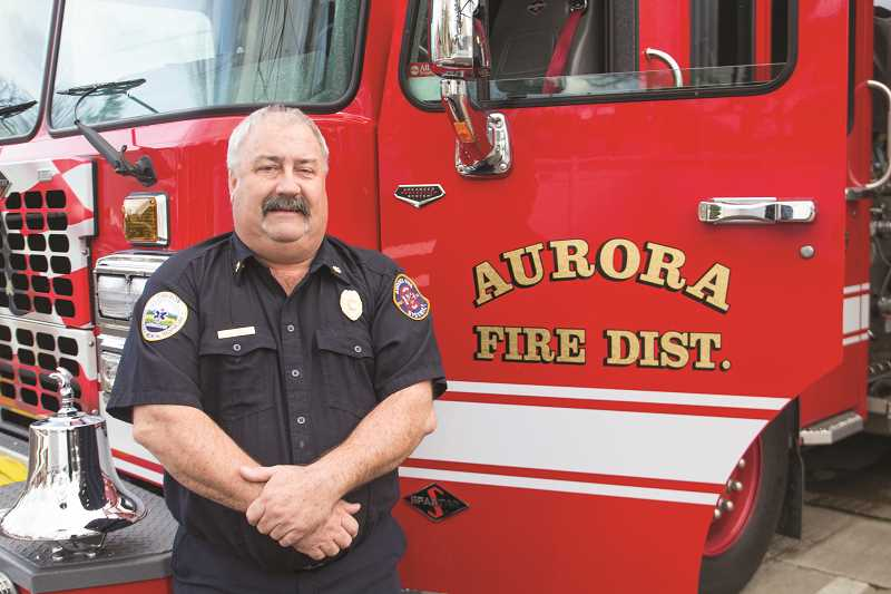 INDEPENDENT PHOTO: JULIA COMNES - Rod Yoder has served as Aurora Fire District's chief since 1985, having started out as a volunteer firefighter in 1975. He has decided to retire, saying he'll stay on until a new chief is in place.