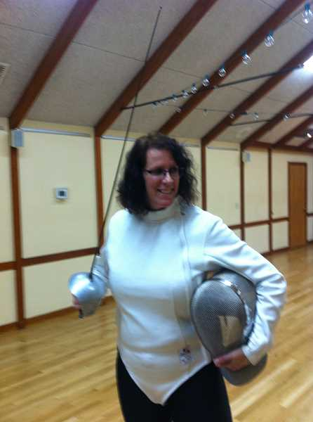 SUBMITTED PHOTOS  - Oregon Fencing Alliance instructor Kathleen Vasconcellos will teach weekly sabre fencing classes through Lake Oswego Parks & Recreation.