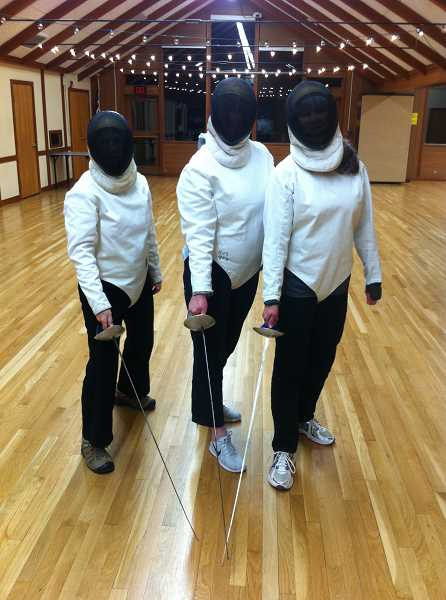Barb Randall (center) says she enjoyed the fencing class she took through Lake Oswego Parks & Recreation with Linda Becker (left) and Robin Harrower.