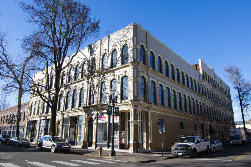 SUBMITTED: CBRE - The deal includes the four-story Merchant Hotel, 222 N.W. Davis St., an 1888 building renovated in 2017 with 56,731 square feet of creative office space; the two-story Captain Couch at 24-32 N.W. Second Ave., a 1912 building with 17,742 square feet of creative office space; and the 1875 Norton House at 31-53 N.W. First Ave., a two-story creative office building totaling 13,626 square feet.