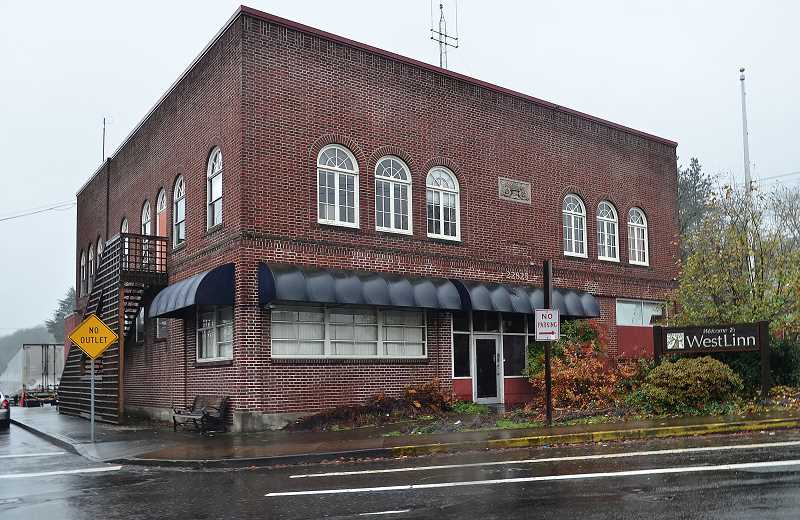 TIDINGS FILE PHOTO - West Linn's former city hall and police station, vacant for nearly four years, was thought by many to be a perfect location for the groups under consideration, due to its location and historical significance.