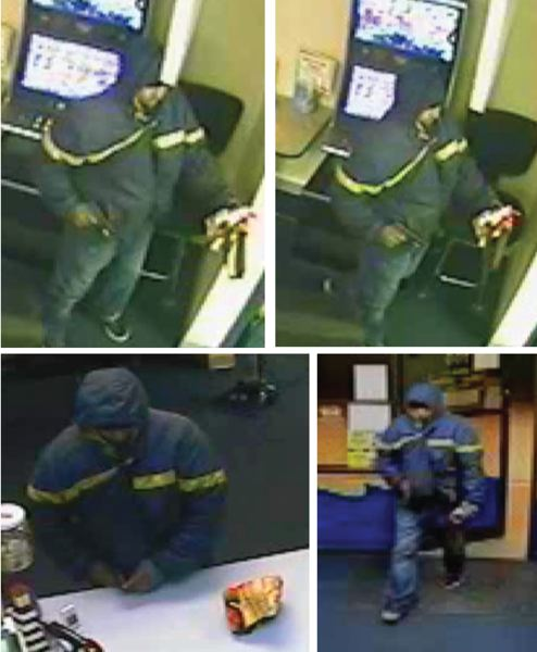 PHOTO COURTESY: CCSO - Surveillance still photos of the subject show him with the distinctive colorful money bag.