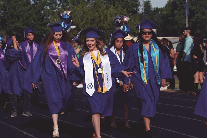 PAMPLIN MEDIA GROUP FILE PHOTO - Pictured are graduates in the Woodburn High School Class of 2017.
