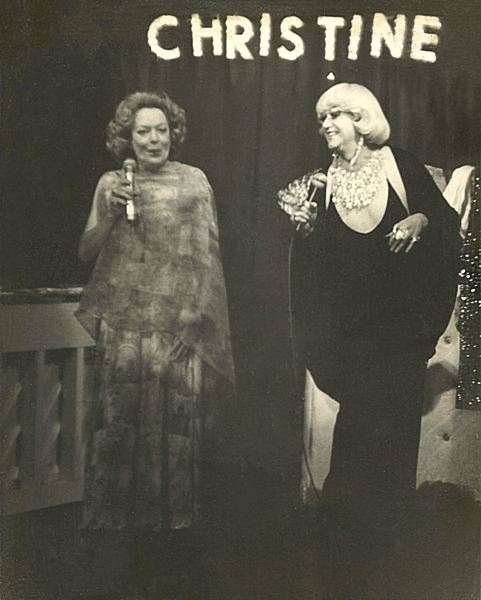 COURTESY: TRIANGLE PRODUCTIONS - Christine Jorgensen (left) appears with Darcelle, aka Walter Cole, Portland's star drag queen.