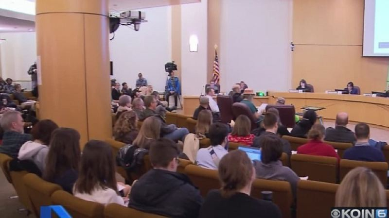 KOIN 6 NEWS - A large crowd turnd out for Thursday's hearing about a homeless shelter in Southeast Foster Road.