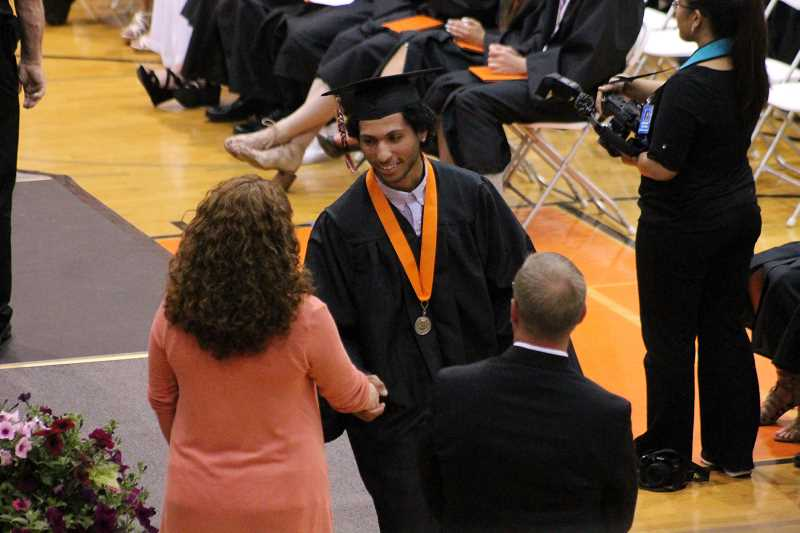 PIONEER FILE PHOTO - Pictured is Molalla High School's 2017 graduation.