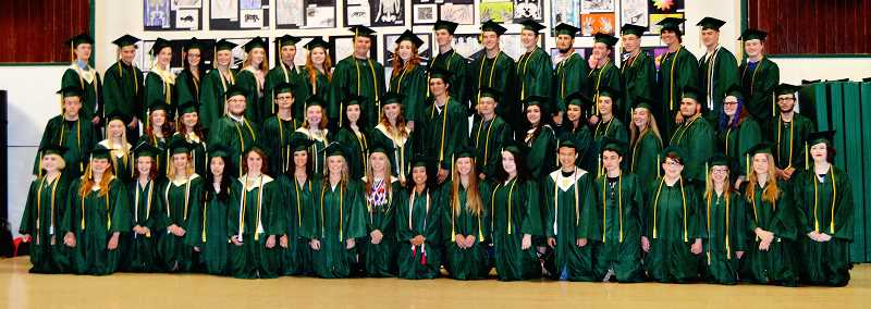 PIONEER FILE PHOTO - Pictured is Colton High School's 2017 graduating class.