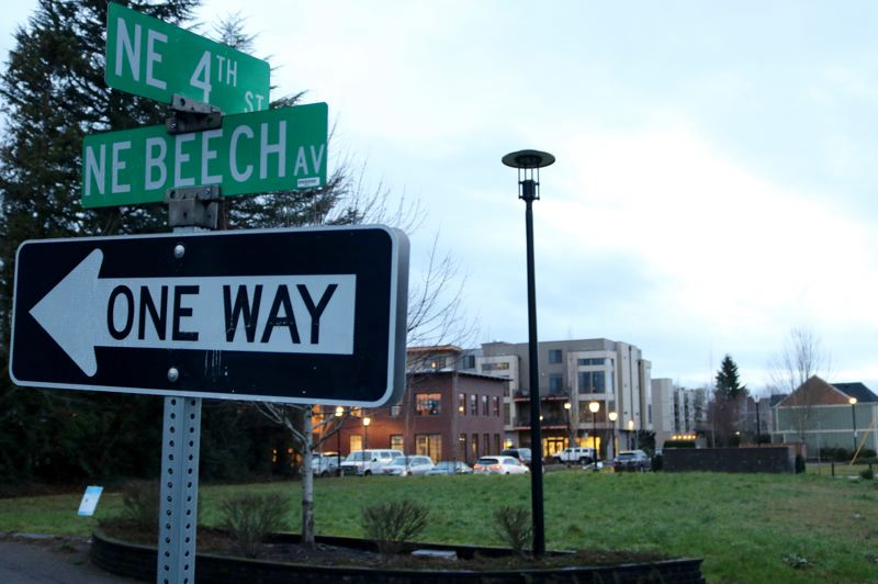 OUTLOOK PHOTO: ZANE SPARLING - The intersection of 4th Street and Beech Avenue on Thursday, Jan. 25 in Gresham.