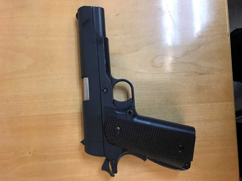 COURTESY OF SHERWOOD POLICE DEPARTMENT - A photo of the airsoft gun in question, which resulted in a lockout at SHS on Friday.