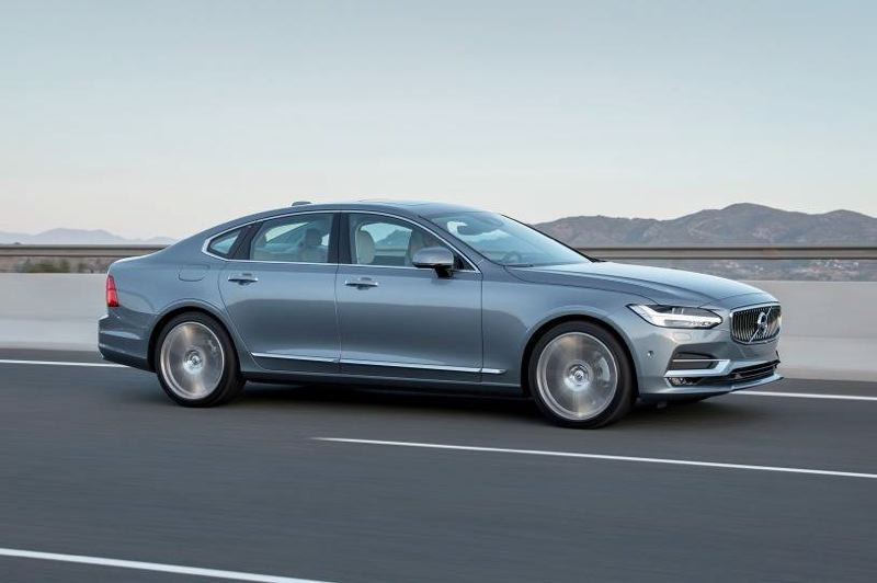 COURTESY VOLVO - For 2018, the Volvo S90 is only avalable in the long wheelbase version, making it possibly the largest midsize luxury sedan on the market.