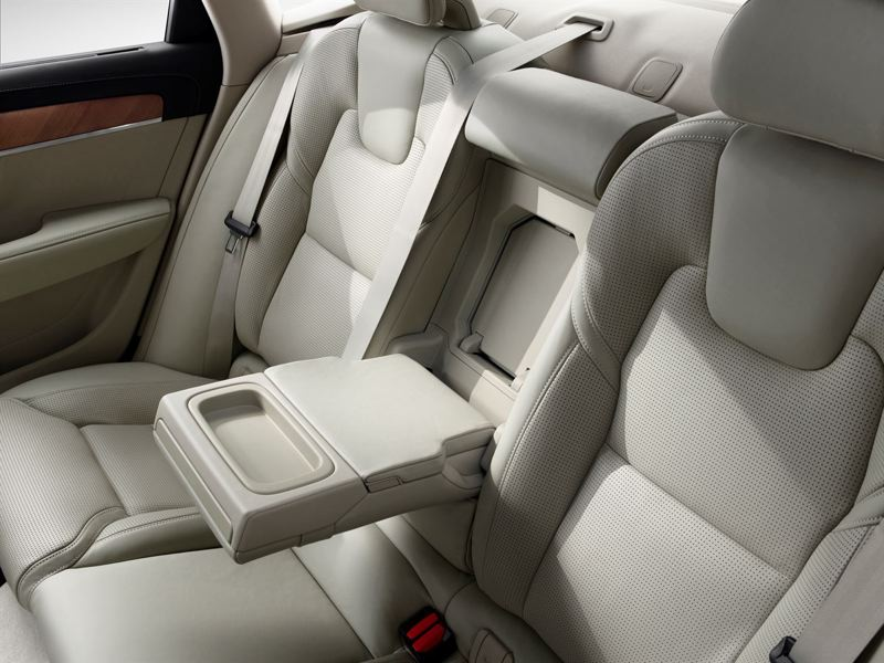 COURTESY VOLVO - Rear seat passengers will be comfortable and surrounded by luxury appointments in the 2018 Volvo S90 T6 AWD Inscription.