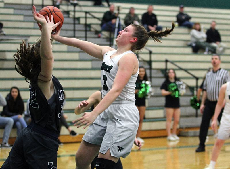 PAMPLIN MEDIA GROUP PHOTO: MILES VANCE - Tigard's Campbell Gray and the Tigers have risen to No. 3 in the latest statewide Class 6A girls basketball coaches poll.