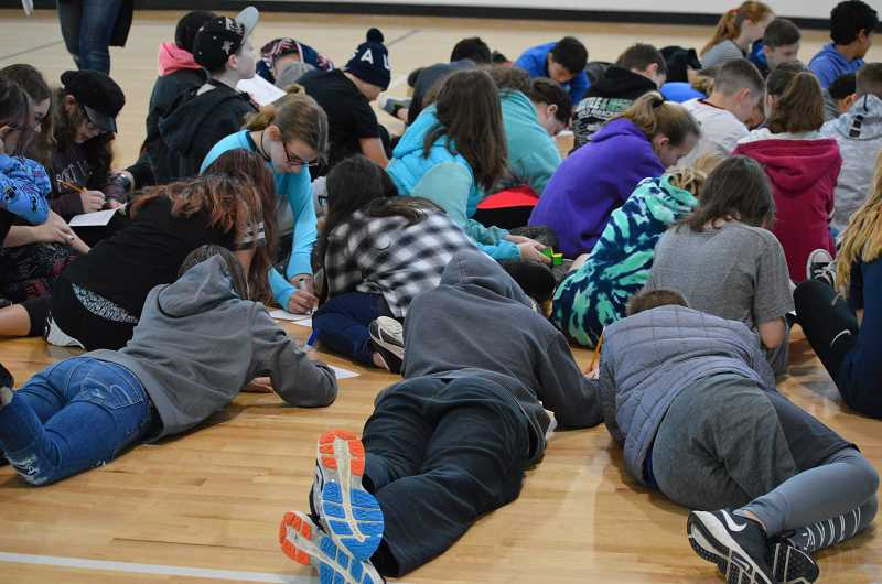 SPOKESMAN PHOTO: CLARA HOWELL  - Students gather for student leadership trainings before school on Fridays.