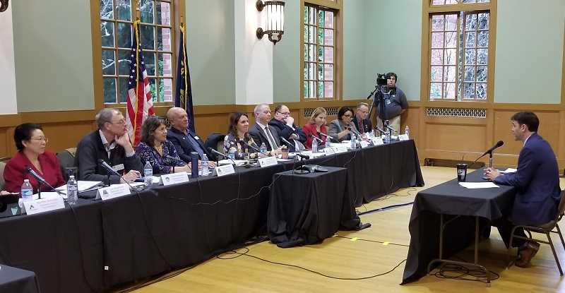 REVIEW PHOTO: ANTHONY MACUK - Rob Wagner addresses the Washington, Clackamas and Multnomah County boards of commissioners at the meeting on Monday.