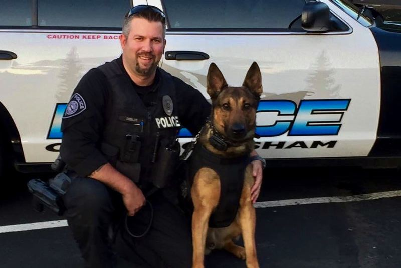 CONTRIBUTED PHOTO: GRESHAM POLICE DEPARTMENT K9 UNIT - Gresham K9 Handler Shawn Debler has partnered with Basco the German shepherd for six years.